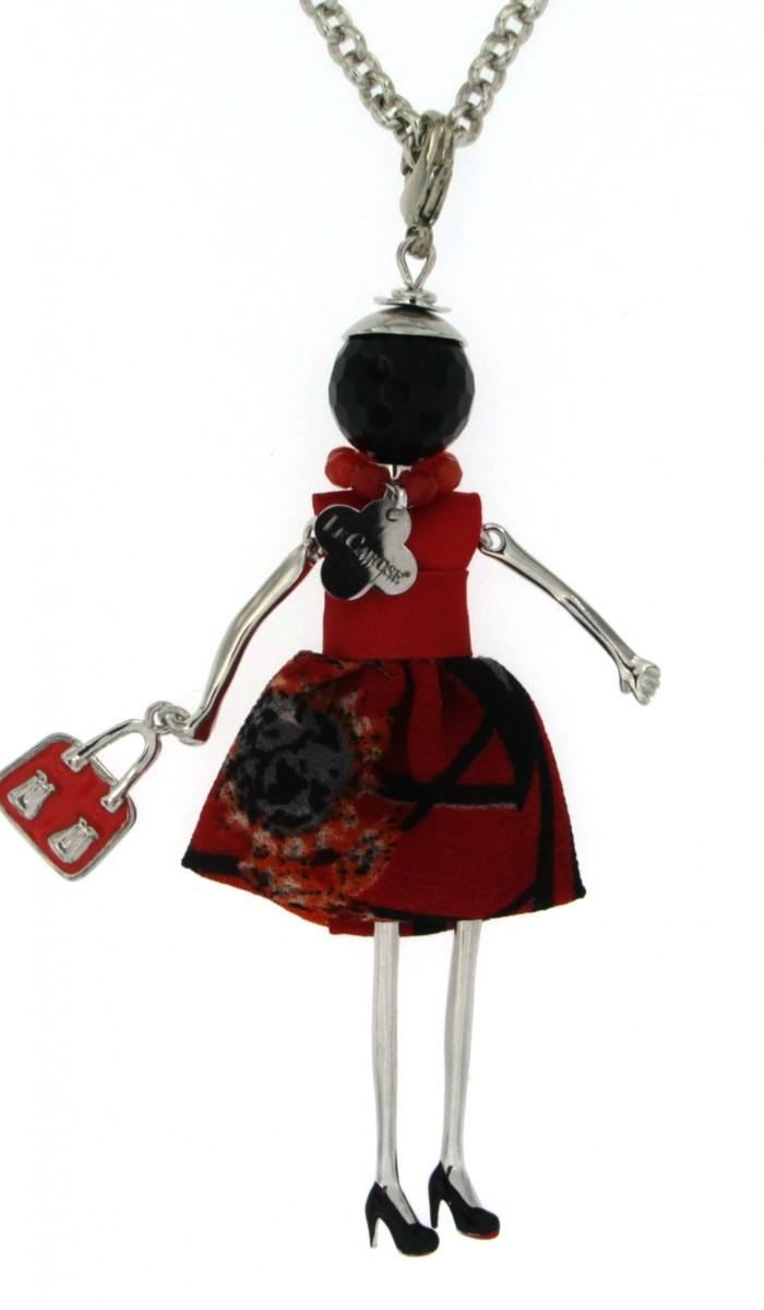 Collana e ciondolo bambolina ottone con bagno galvanico - Bagno galvanico ...