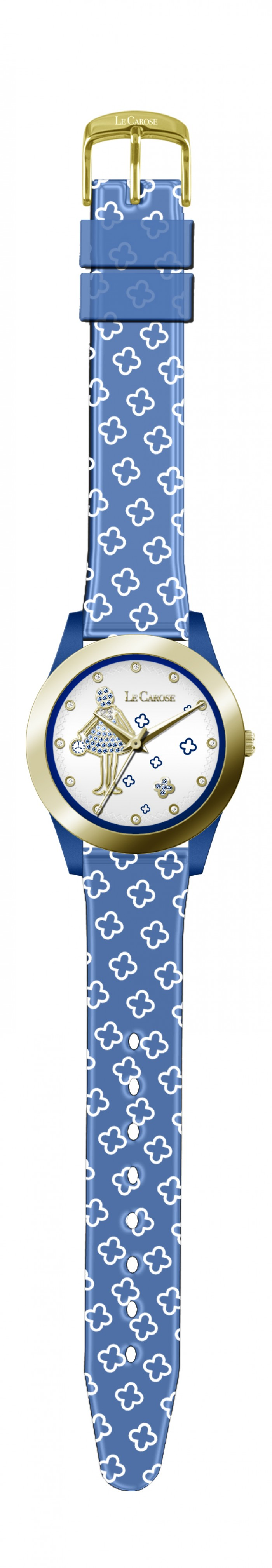 Orologio PVC Gold Blu 01