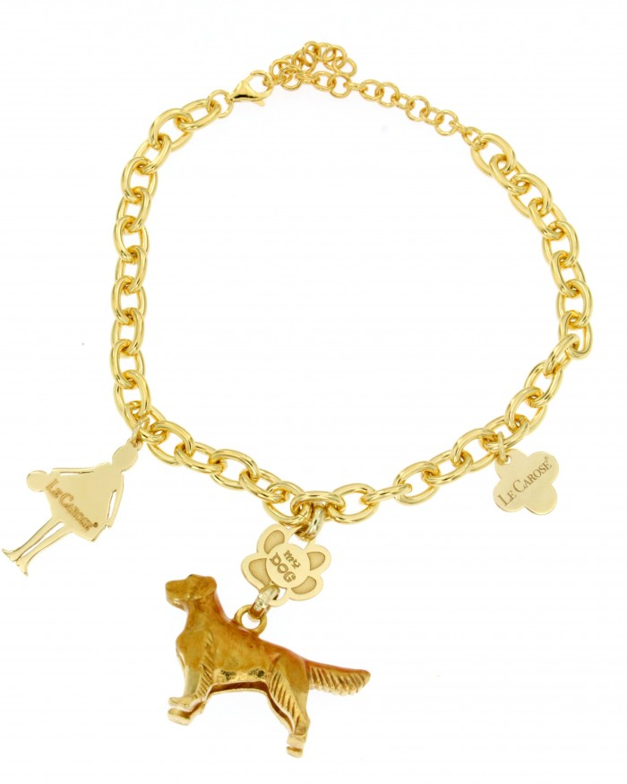 Bracciale I Love My Dog Golden retriever