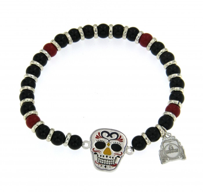 Bracciale Skull Mexican Stones 03
