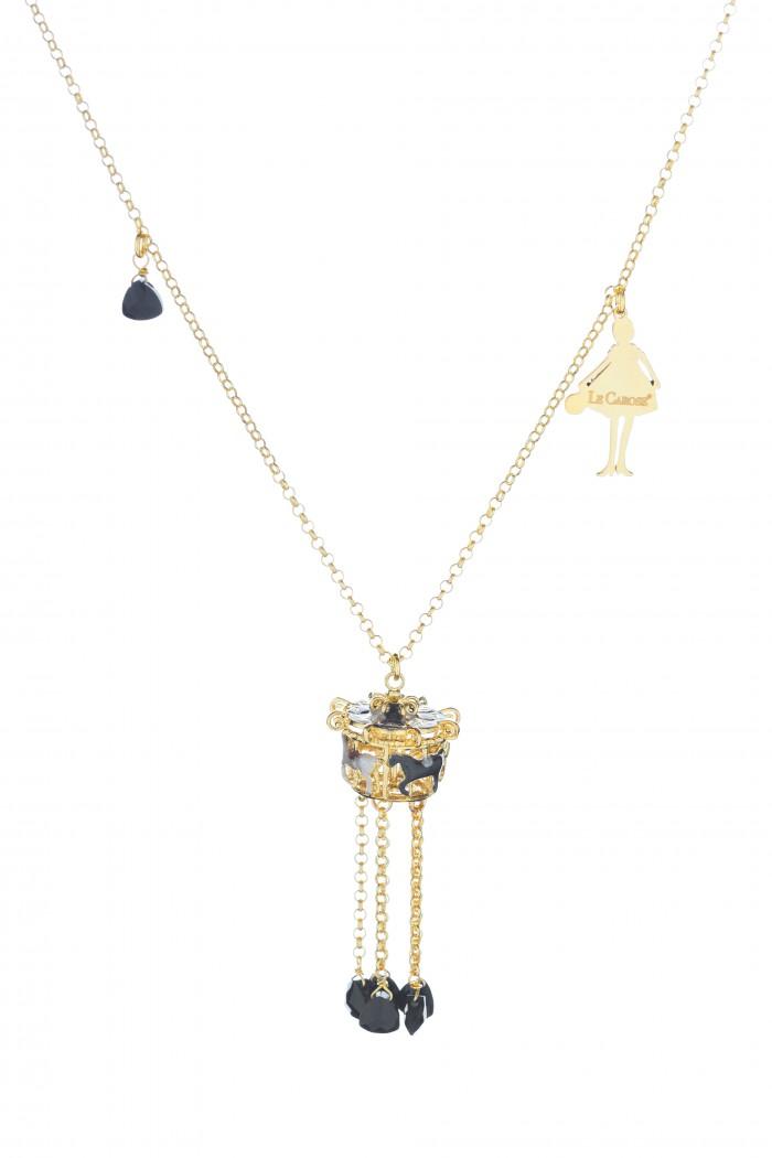 Collana bronzo bagno galvanico oro lunga 80 cm con doppia - Bagno galvanico ...