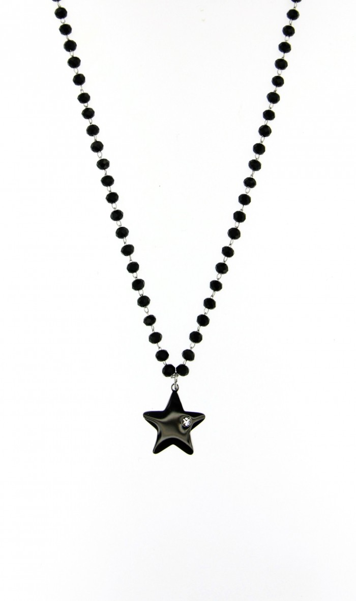 necklace rosario star strass