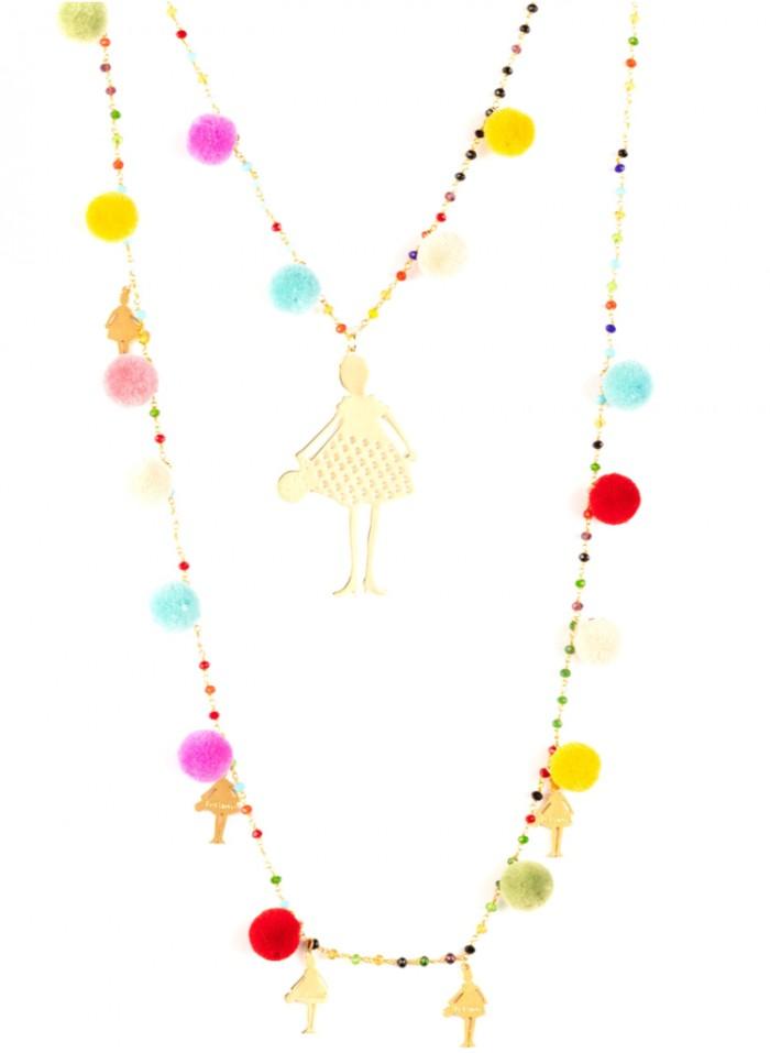 necklace150 pompon