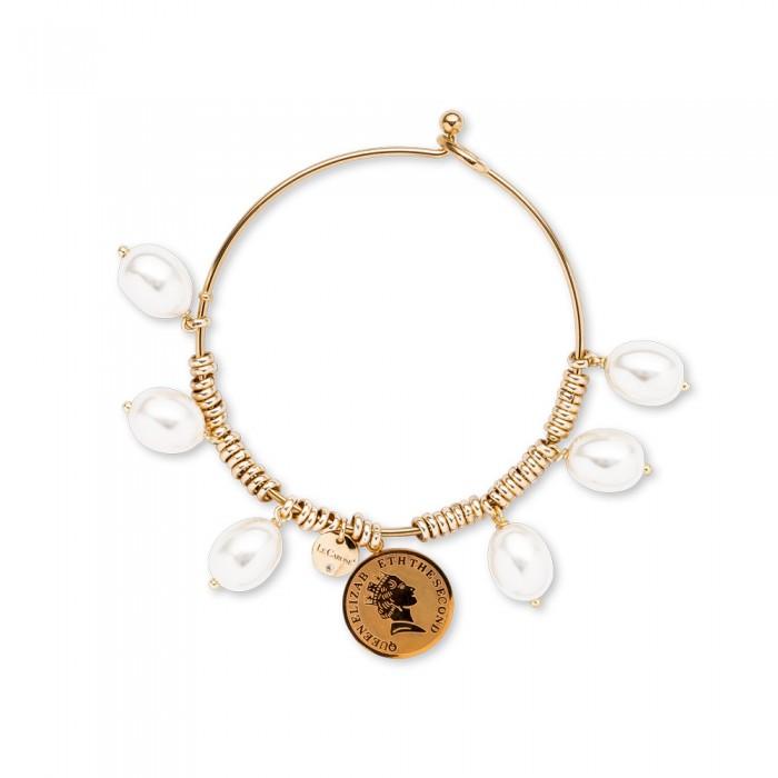 Bracciale rigido Queen Pearl Oro