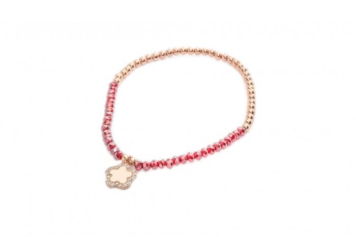 Bracciale Cristal rosa elastico