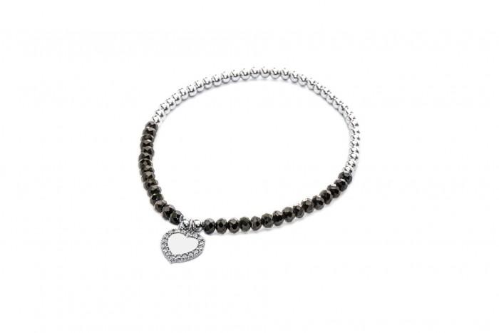 Bracciale Cristal nero elastico
