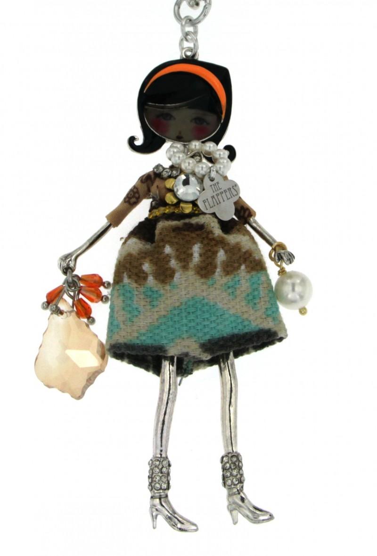 Collana flappers con ciondolo bambola bagno galvanico - Bagno galvanico ...
